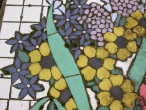 Algen op mozaiek